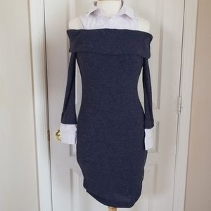 Venus Off the Shoulder Sweater/Shirt Dress